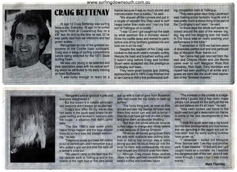 1993 Craig Bettany Wetside News article collage_photocat