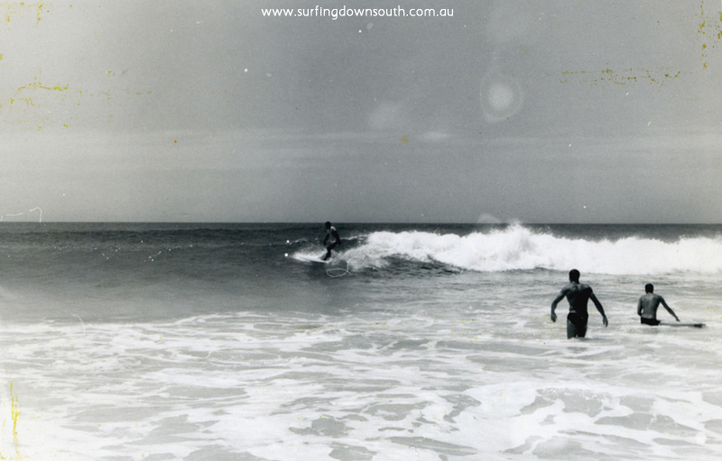 1962 The Farm Bob Keenan surfing, Terry Williams & unknown - Brian Cole pic img272