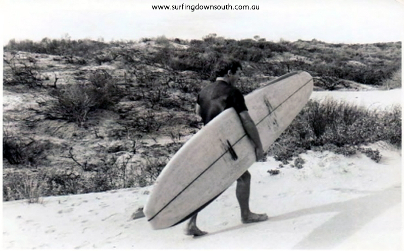 1964-65 Mandurah Tom Collins with Len Dibben board NVE00080