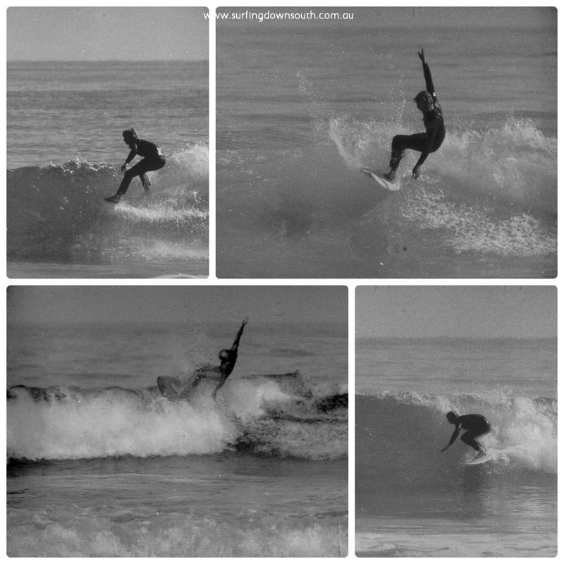 1970s Trigg Pt Mick Black surfing 2 Ric Chan collage_photocat
