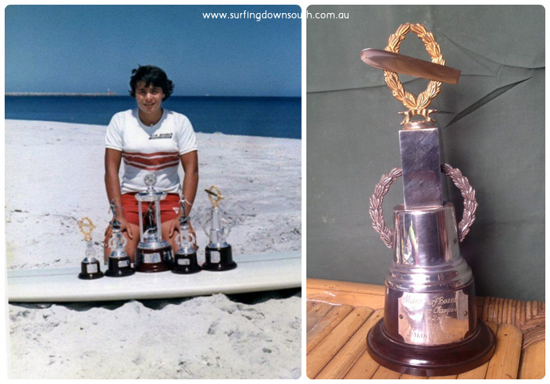 1965 Miami Board Club Teena's & Tom's trophies collage_photocat