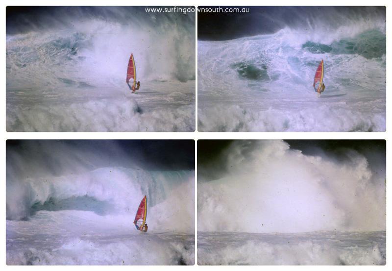 1986 Hawaii Aloha Classic Hoopika Rich Myers seq collage_photocat