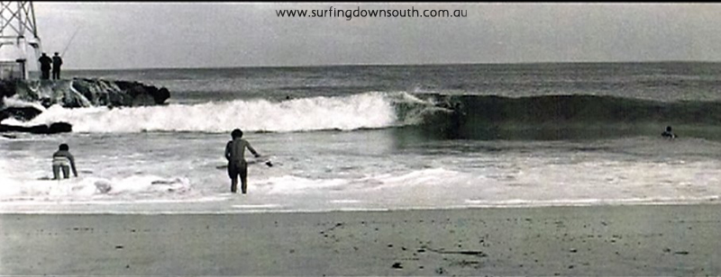 1960s City Beach groyne surfing - Tom Collins pic NVE00028