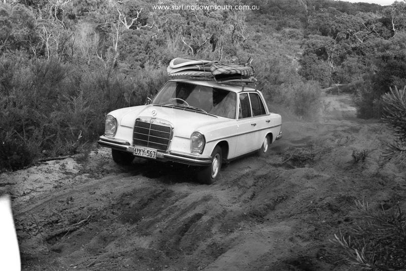 1968 Gallows track Kevin Merifield's Merc 280SE- J McFarlane img623
