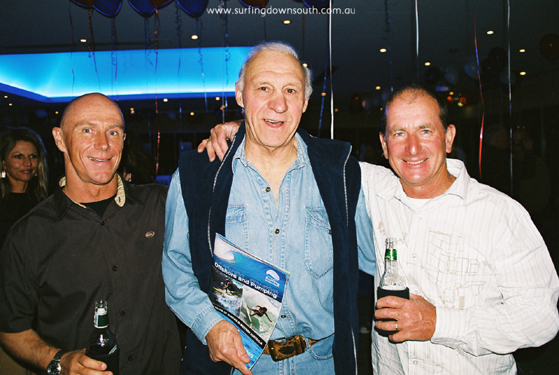 2004 Mike McAuliffe, Len Dibben & Bob Monkman Surfing WA 40th Anniversary @ Aqua - Loz Smith
