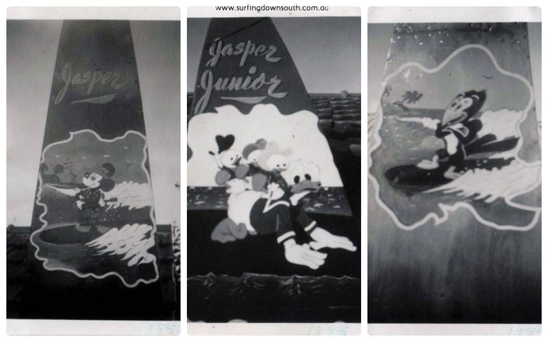 1954-55 Ray Geary surf art #3 collage_photocat