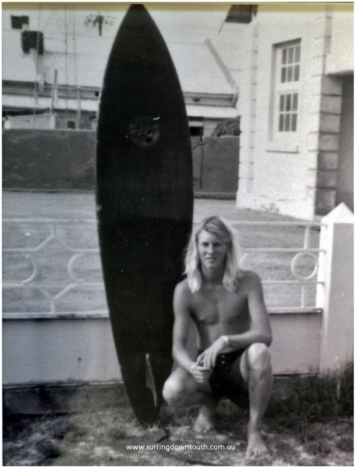 1975 Louie Corkill age 16 Mandurah Len Dibben surfboard & Adler boardies DSC_8670a