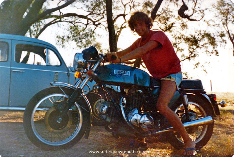 1977 Yalls Andy riding Ducati motobike - Andy Jones pic_0001