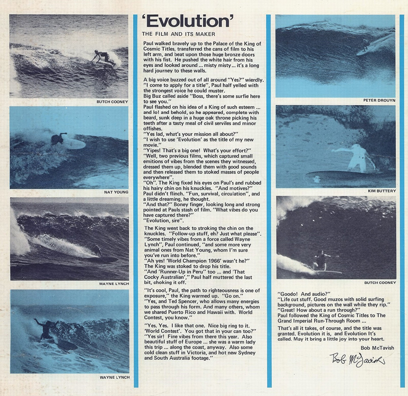 1969-evolution-movie-ticket-bob-mctavish-report