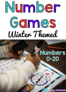 Spin and Bump your way to number practice. Kindergarten students can practice identifying numbers alone or with partners. These number games for kids are a great activity for early finishers or math centers.