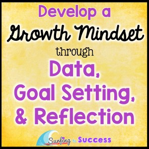 Growth mindset is easy to say. Helping students develop a growth mindset can be challenging. Let's start with data, goals, and reflection.