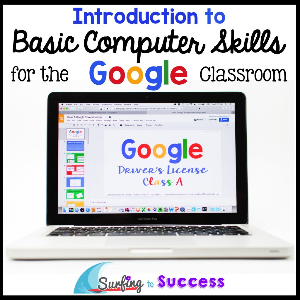 Help your students prepare for a year of using Google in the Classroom. Give them a fun way to practice skills they'll need to use Google Slides, Google Drive, and more.