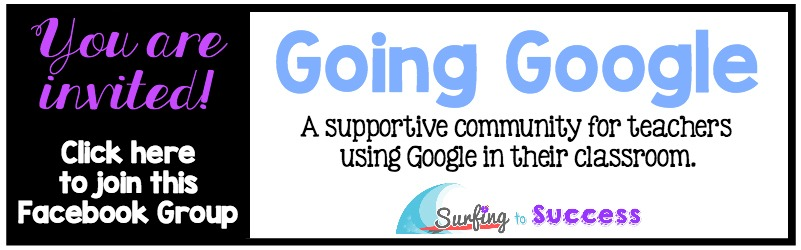Going Google: a Facebook group that is a supportive community for teachers using Google in their classrooms.