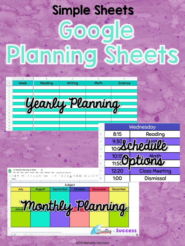 Planning Sheets
