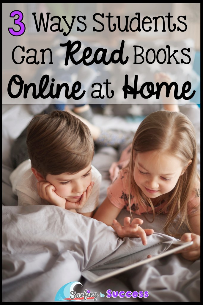 3 Ways Students Can Read Books Online at Home Are you looking for ways your students can read for free online?  I've been using these three websites in my classroom.  Now, kids can use these to read at home.