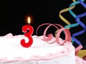birthday cake three years
