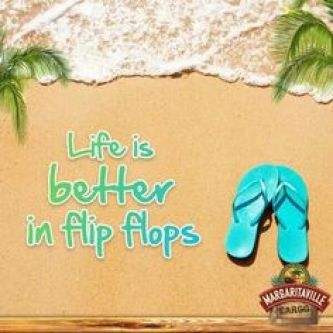 Jimmy Buffett flip flops