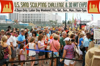 US Sand Sculpting Challenge sign.people