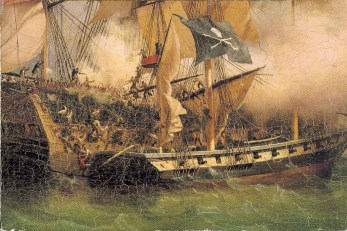 Pirate Ship in battle