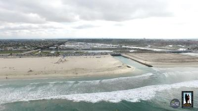 aerial view of SA river jetty