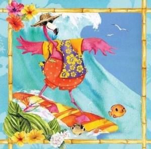 flamingo-fun-plastic surfing