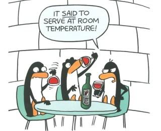 wine at room temperature