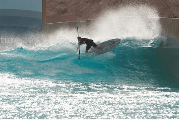 Kieren Taylor to Compete in first SUP Surf Contest at Wadi Adventure Wave Pool