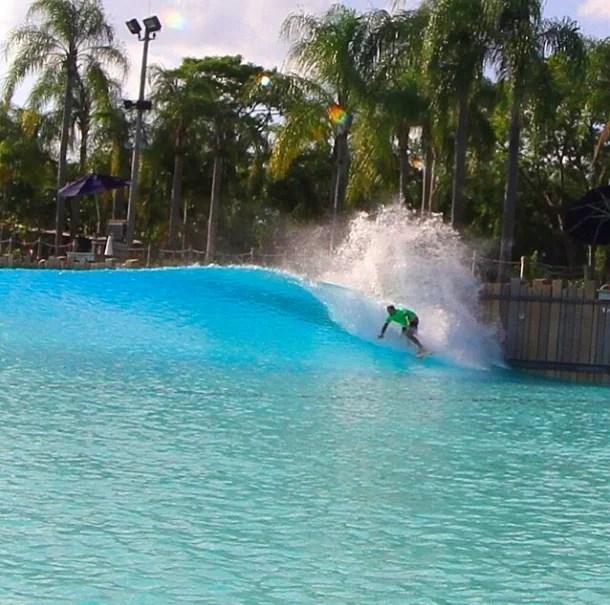 James Harold surfing typhoon lagoon surf pool
