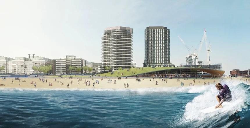 Docklands Surf Park in Melbourne CBD    Surf Park Central