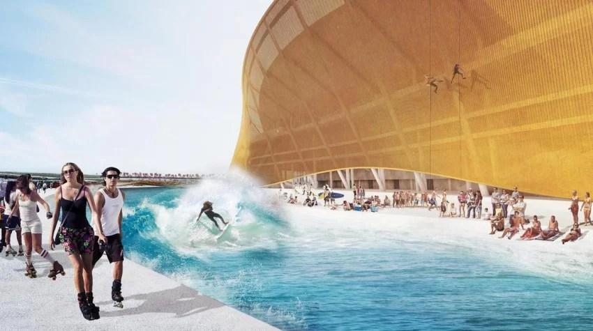 Surf Pool Surrounds Washington Redskins New Stadium | Surf Moat | Surf Park Central