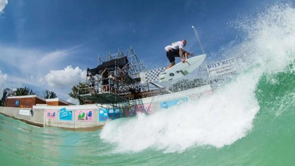 Chippa Wilson surfing BSR Surf Resort Waco TX Surf Pool