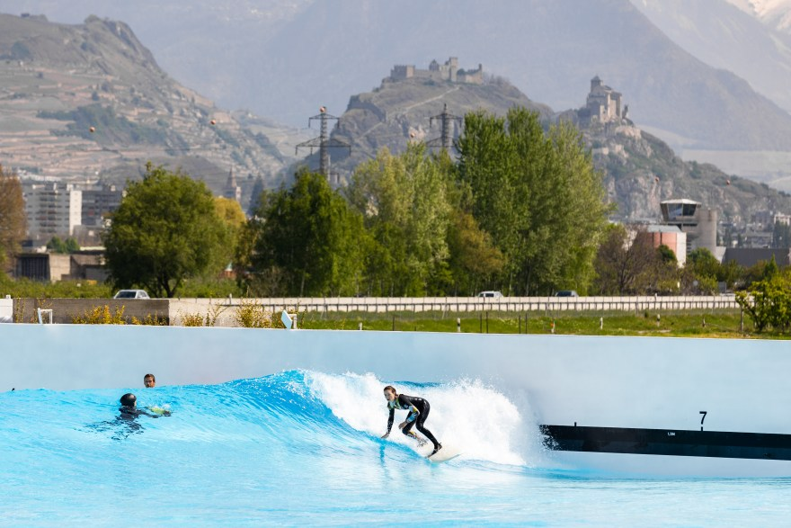 Surfing at Wavegarden