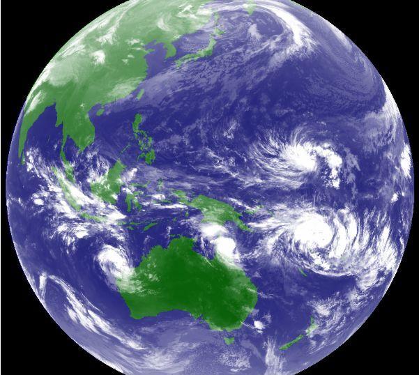 台風3号発生中