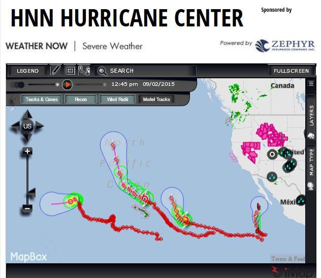 太平洋にハリケーン続出