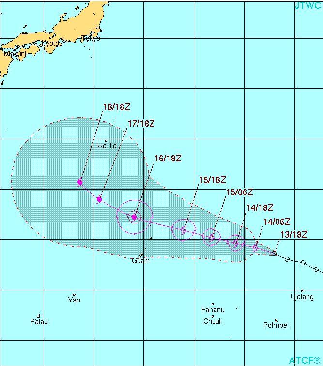 台風25号チャンパー進路