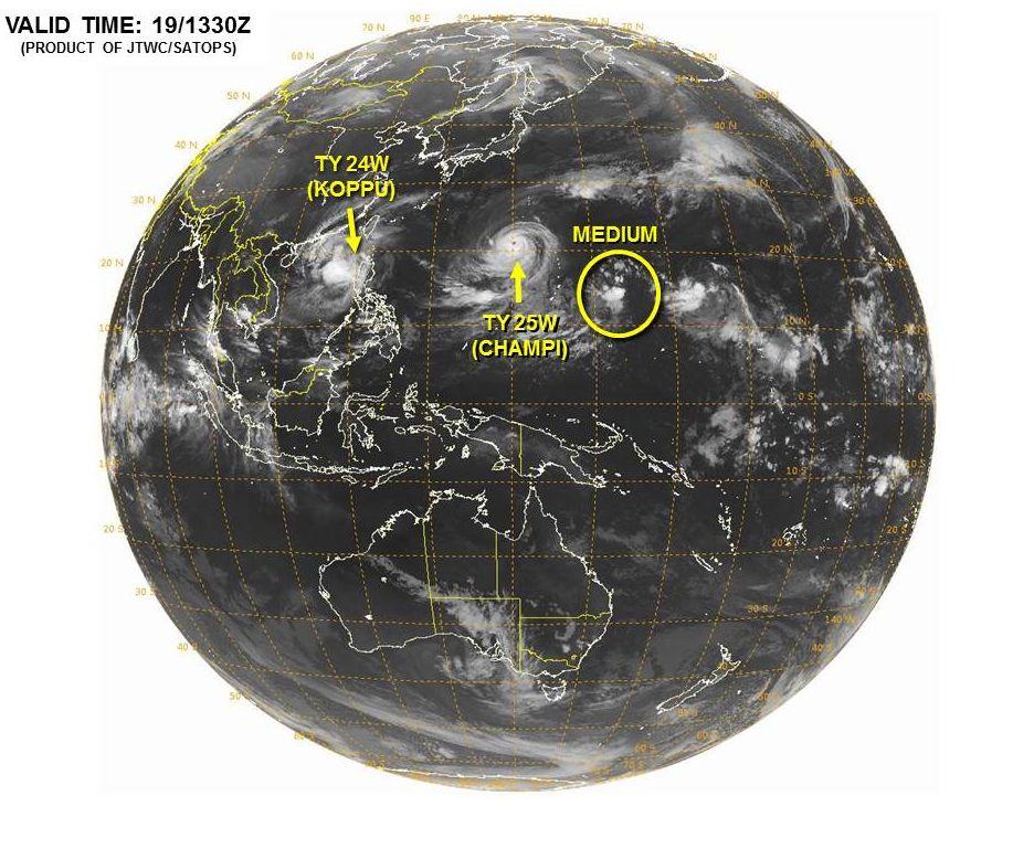 台風26号インファ三つ子台風