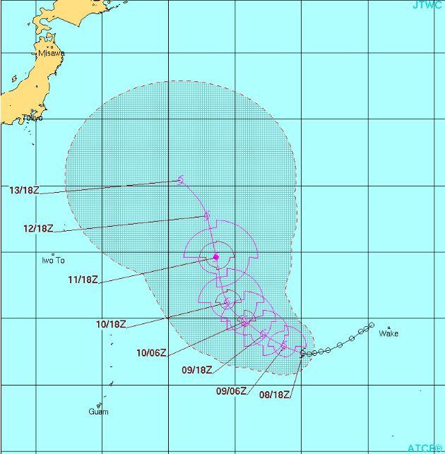 台風6号コンソン