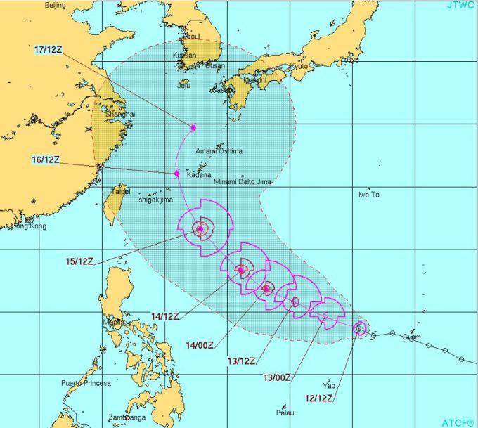台風1号モーレツ!