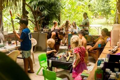 family retreat, art class, de colores art studio, surf with amigas