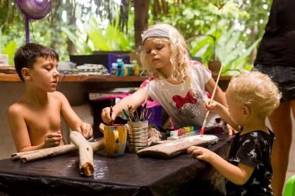 family retreat, art class, luna Obermeyer