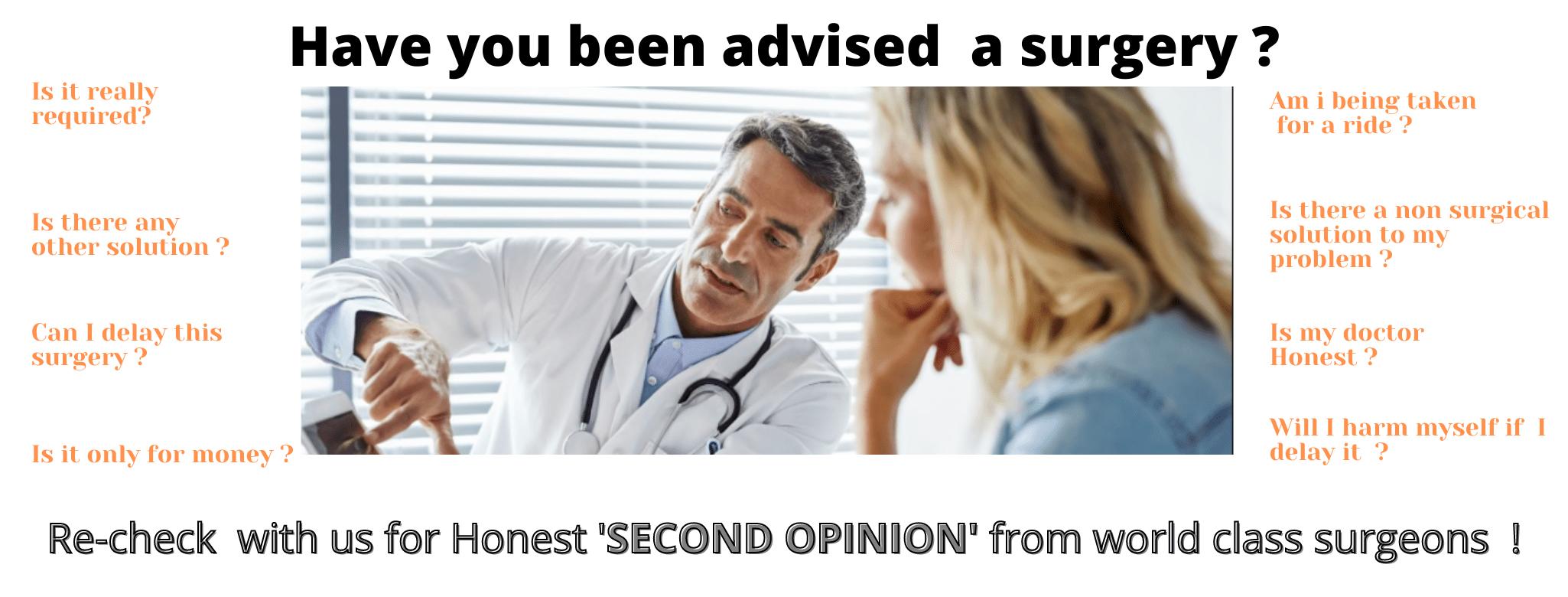 second opinion regarding surgery