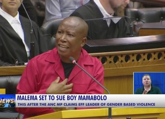 ANC MP Boy Mamabolo is ready to justify allegations about Malema abusing his wife. Mamabolo is unbothered by Julius Malema's decision to sue him for claiming that Julius had physically abused his wife.