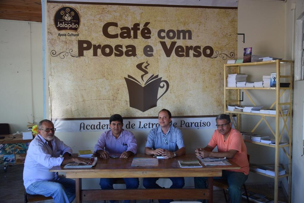 Academia de Letras de Paraíso recebe visita de escritor maranhense e membro da ACALANTO