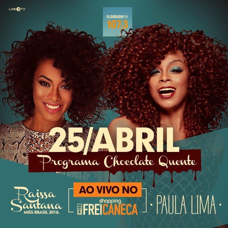 Paula Lima recebe Liniker e a miss Raissa Santana no programa 'Chocolate Quente' da rádio Eldorado nesta terça-feira (25)