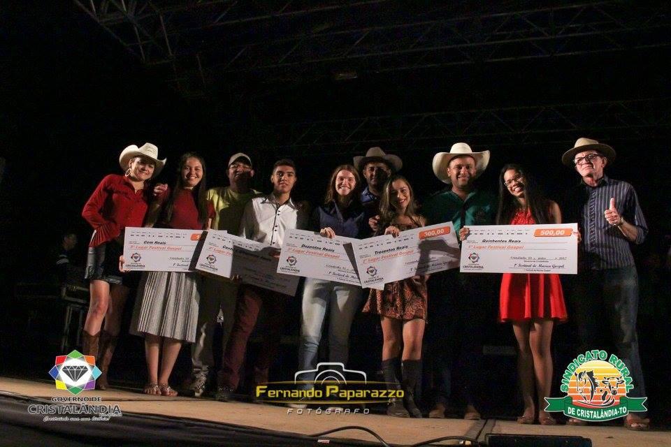 Governo de Cristalândia realizou o 1º Festival de Música Gospel do municipio