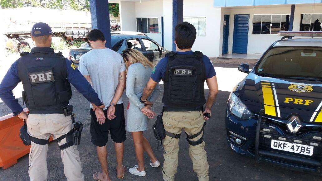 PRF prende casal suspeito de trafico de drogas