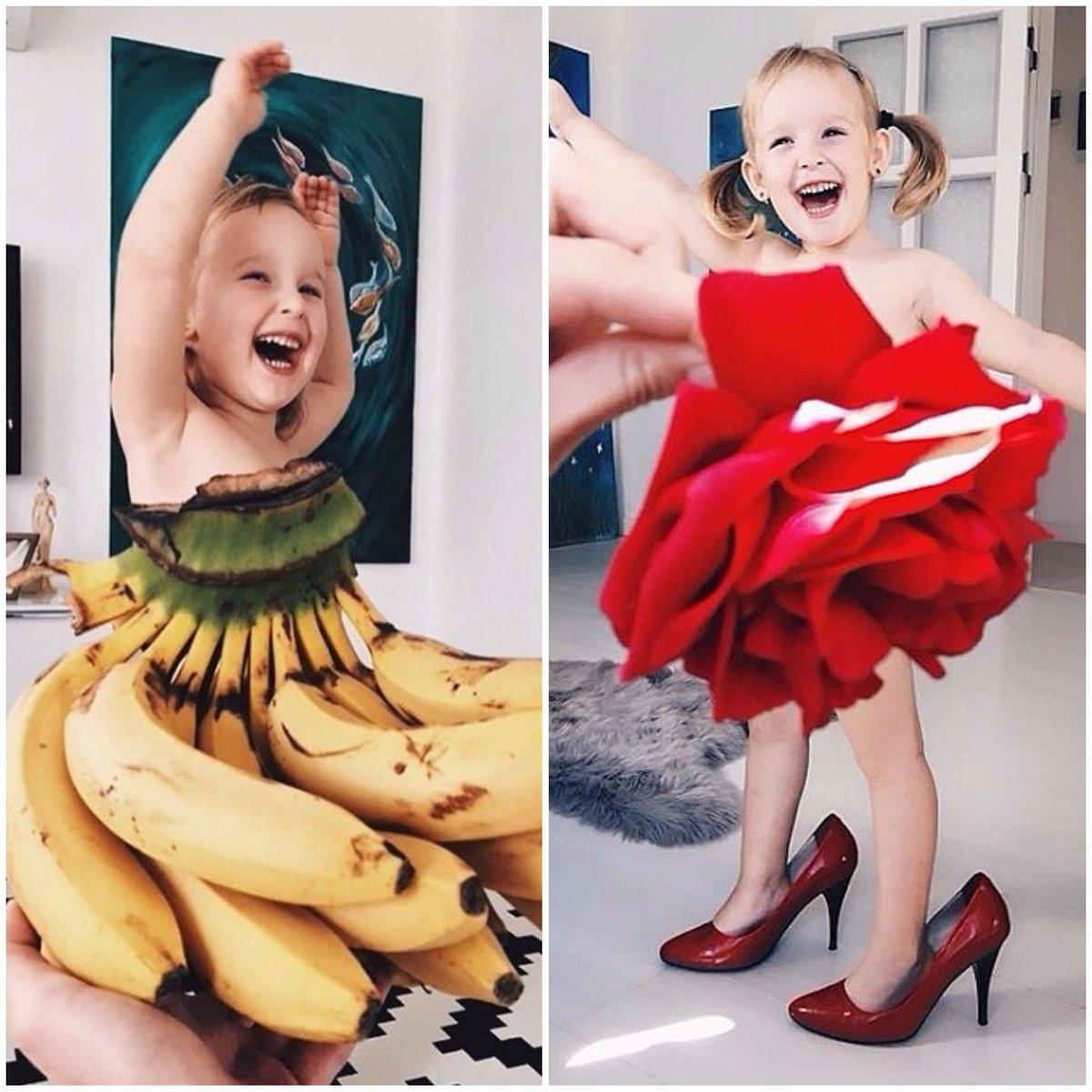 Garotinha que se 'veste' com frutas e vegetais faz sucesso no Instagram