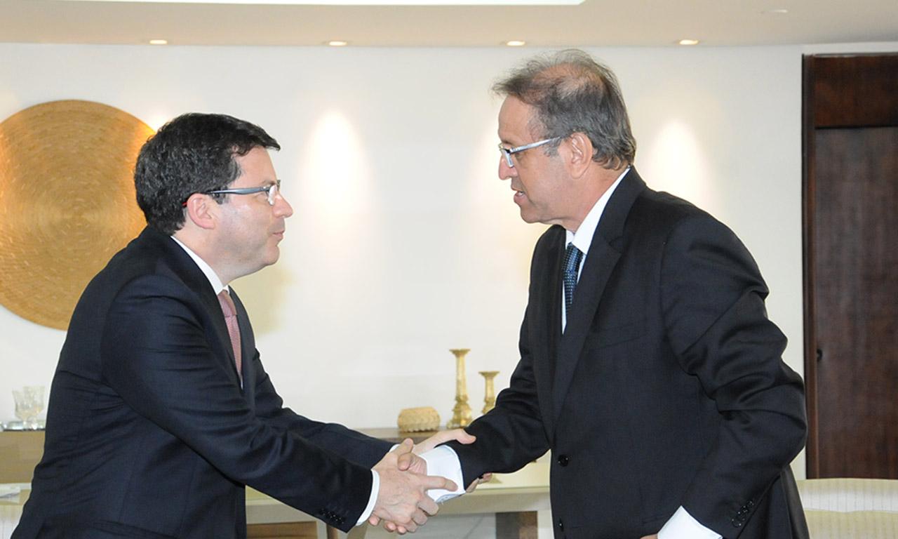Marcelo Miranda recebe presidente do Banco do Brasil e reafirma parceria com a instituição