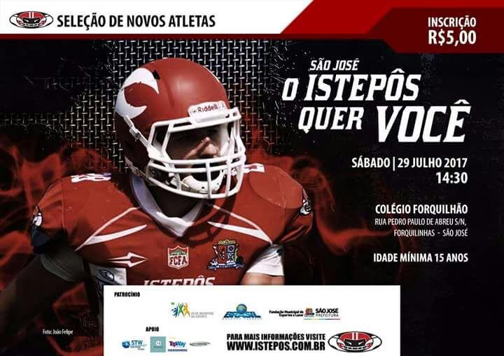 Seletiva de futebol americano neste sábado em São José