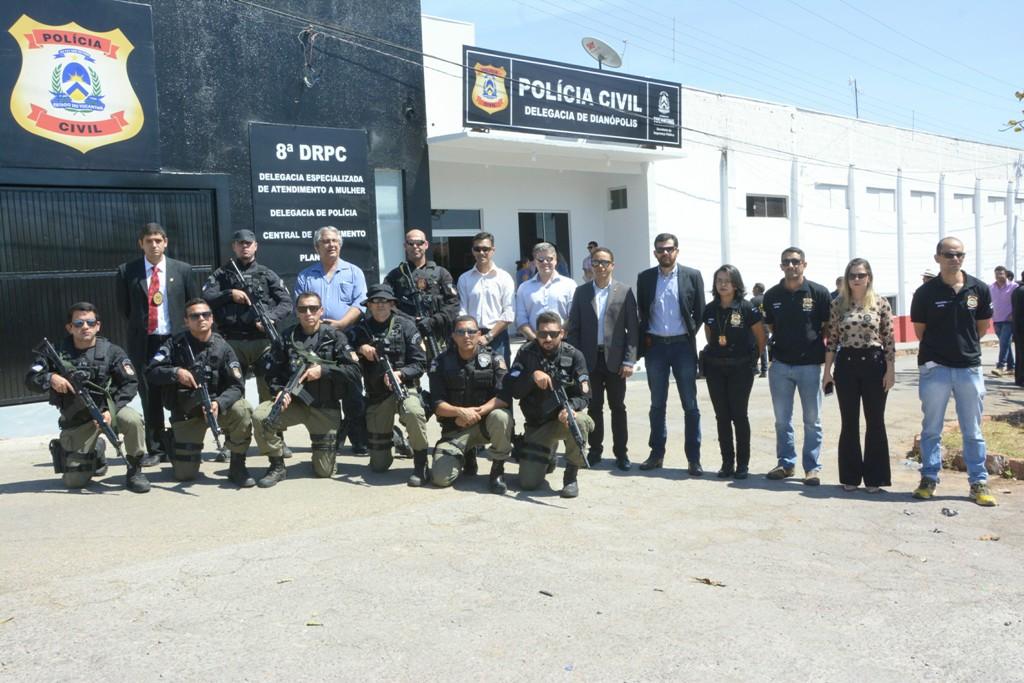Governo do Tocantins entrega nova Delegacia Regional de Polícia Civil de Dianópolis